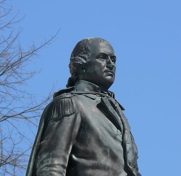 Statue of Nathanael Greene in front of Rhode Island State House, Providence, RI.