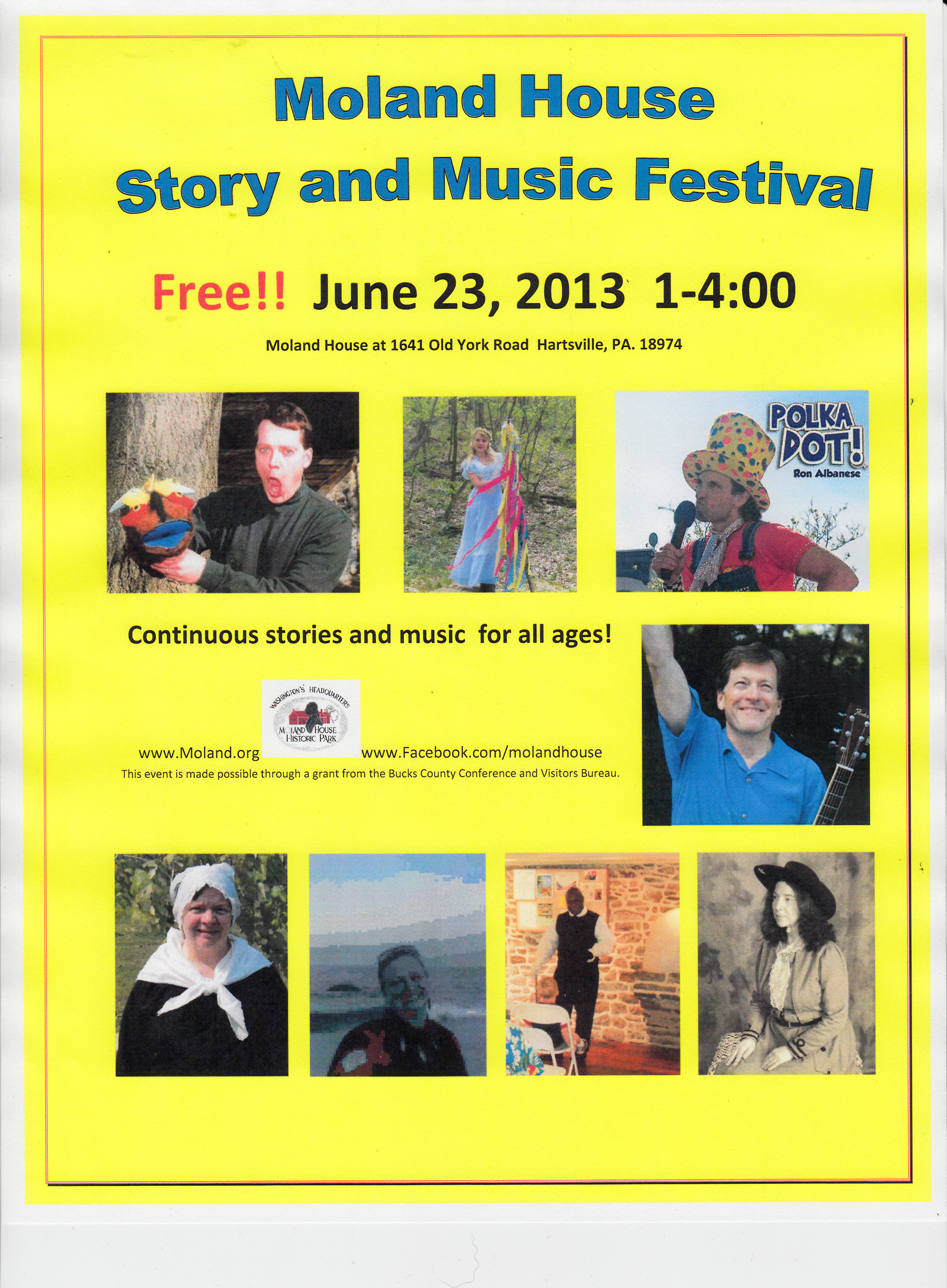 Story and Music Festival 2013 poster