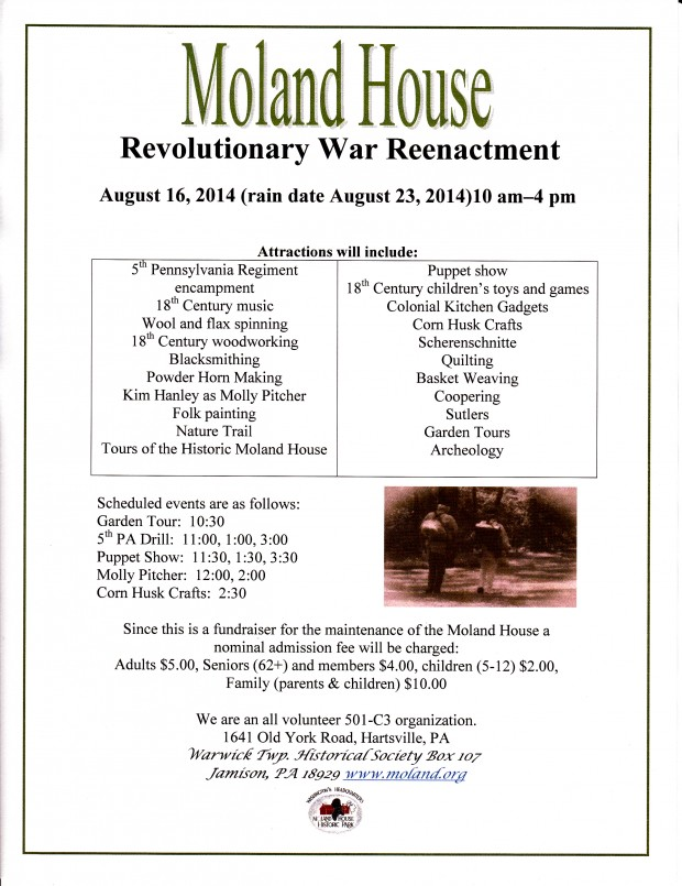 Reenactment 2014 flyer